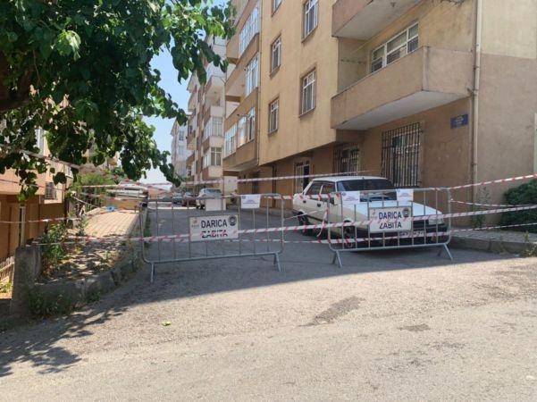 Kocaeli'de bir sokak karantinaya alındı