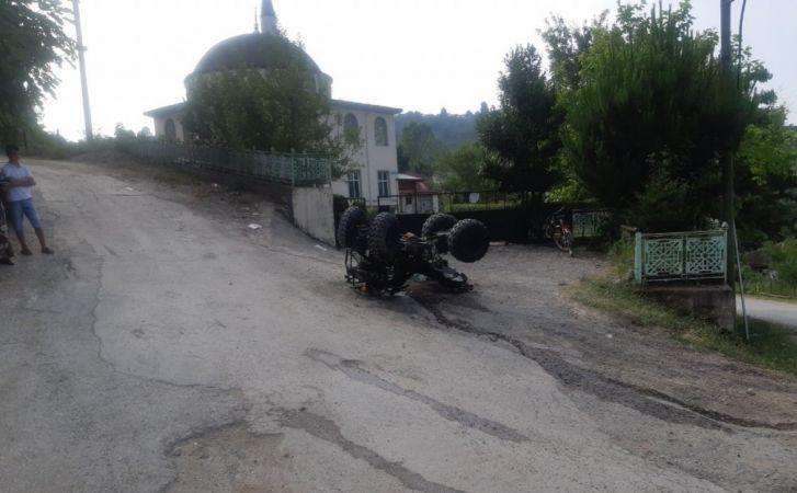 Düzce'de ATV takla attı: 3'ü çocuk 5 yaralı