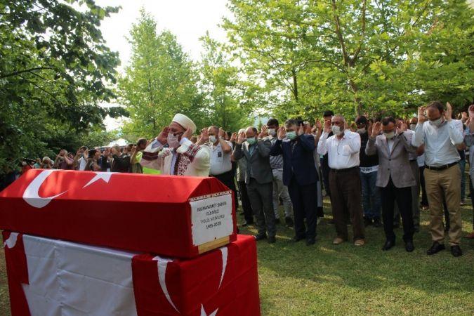 Kandıra'da boğulan polis memuru toprağa veridi