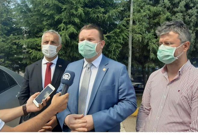 Levent Bülbül. Babaoğlu, MHP il başkanı Akar hastanede.