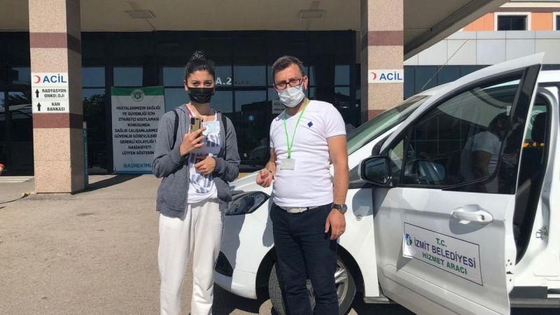 Kimliğini hastanede unutan genç kızın imdadına İzmit Belediyesi yetişti