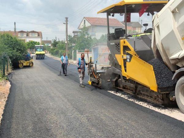 Fatih Mahallesi'nde üstyapı çalışmaları sürüyor
