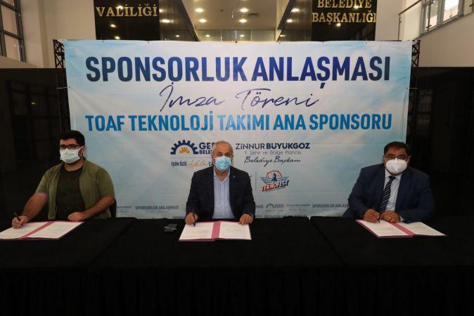 Teknofest ekibine Gebze Belediyesi'nden destek