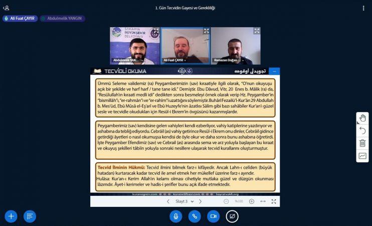 SAMEK'in online programıyla Osmanlı Türkçesi ve Kuran-ı Kerim öğrendiler