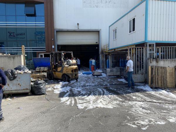 Fabrikadan LPG tüpünün patlamasıyla çıkan yangın korkuttu