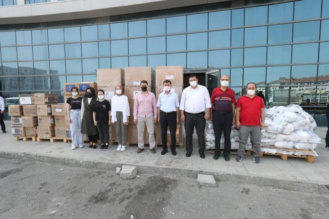 Gebze'den yangın bölgesine yardım eli