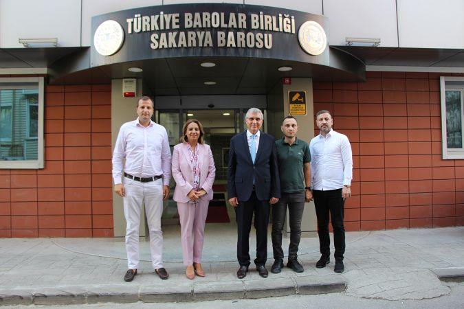 Başkan Yüce'den Baro Başkanı Yıldız'a tebrik ziyareti