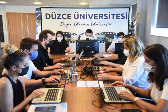 Düzce Üniversitesi YÖK sanal fuarında öğrencilere ışık tuttu