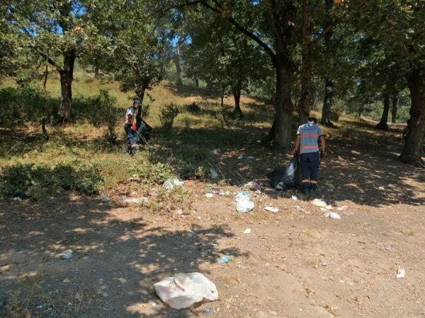 Mesire alanlarında temizlik çalışmaları