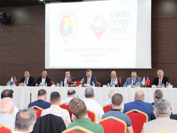 TOBB Başkanı Hisarcıkloğlu'ndan KTO üyeleri ile buluştu