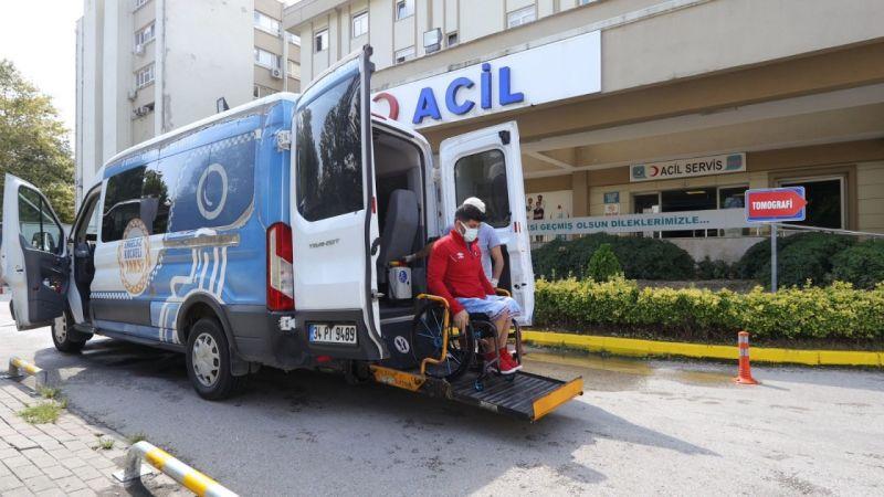 Olimpiyatlara hazırlanan milli sporcu, engelsiz taksi ise aşıya taşındı