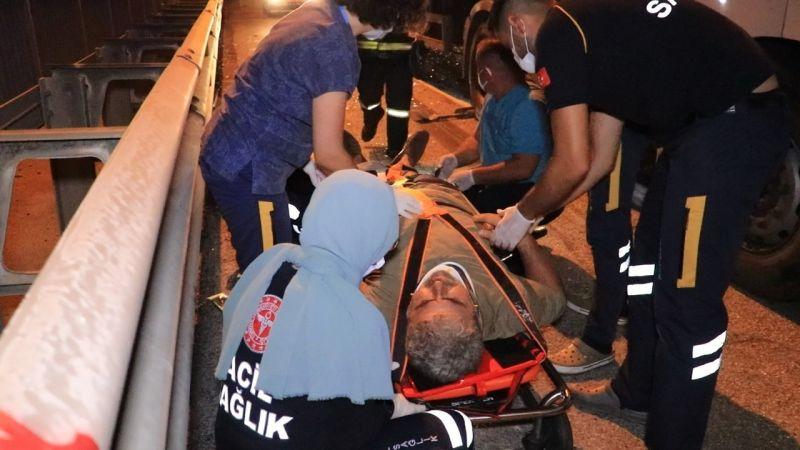 TEM'de yolcu otobüsünün de aralarında olduğu 3 araç birbirine girdi: 1 yaralı