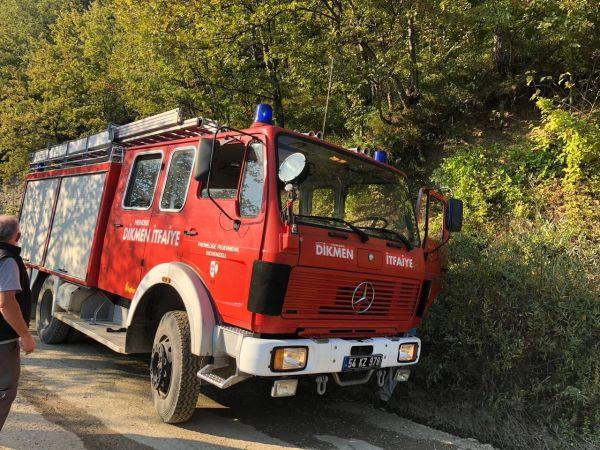 Hendek'te tek katlı evde çıkan yangın itfaiye ekiplerince söndürüldü
