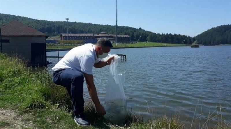 Göllere 70 bin yavru sazan balığı bırakıldı
