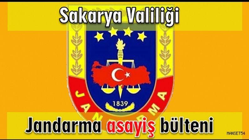 Jandarma Asayiş Bülteni 31 Ağustos 2021