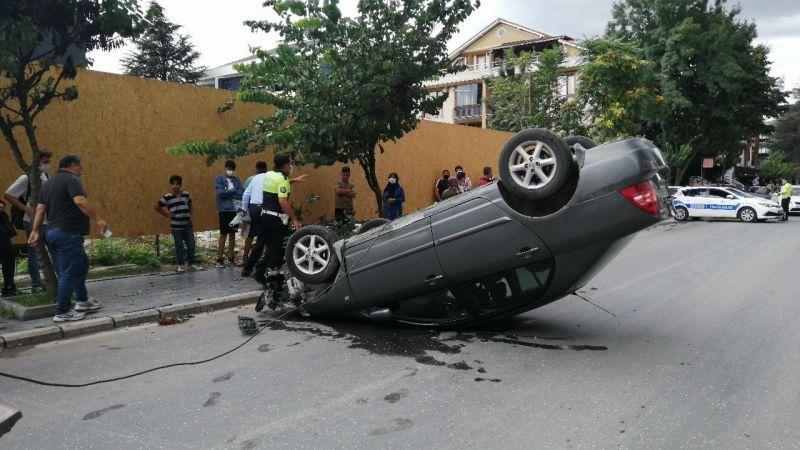 Düzce'de akıl almaz kaza