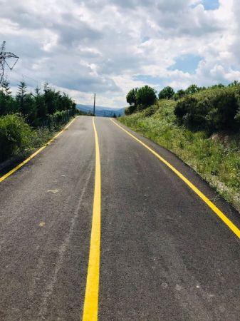 Büyükşehir'den güvenli ulaşım için 9 bin 300 metrelik yol çizgisi