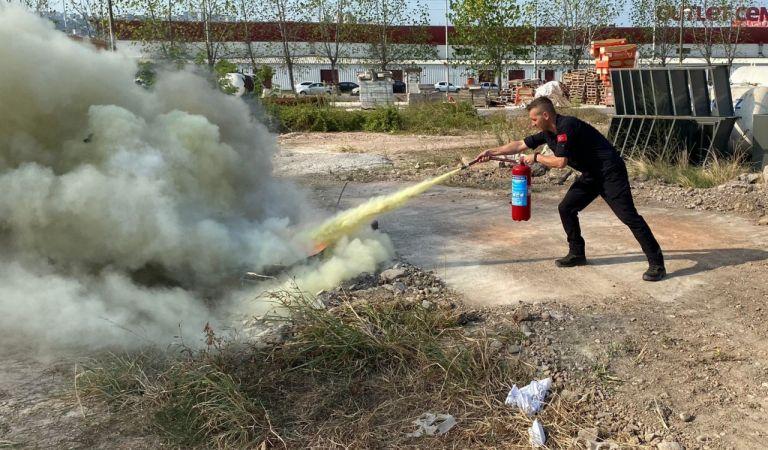 Kocaeli itfaiyesinden yangın eğitimleri
