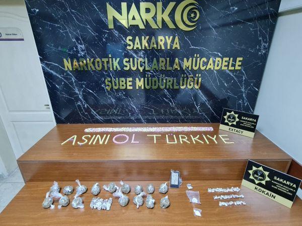 Sakarya'da uyuşturucu operasyonlarında 48 şüpheli yakalandı