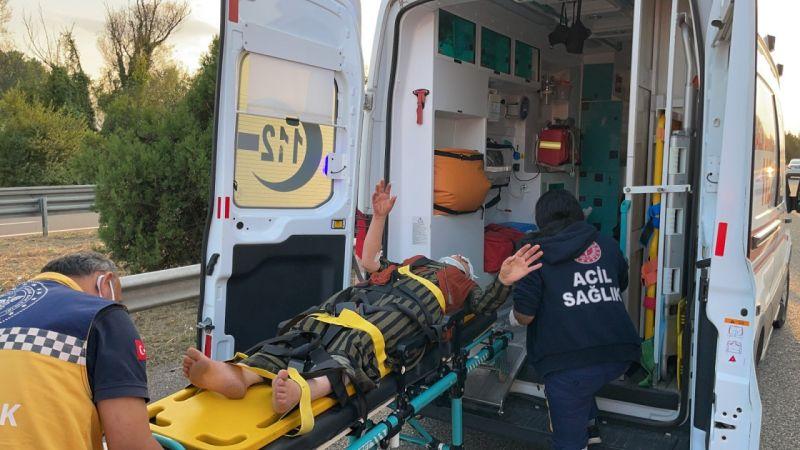 Kazada yaralanan anne 'Oğlum nerede?' diyerek feryat etti