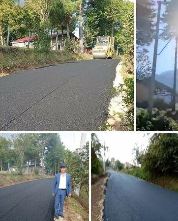 Bakacak mahallesine sıcak asfalt