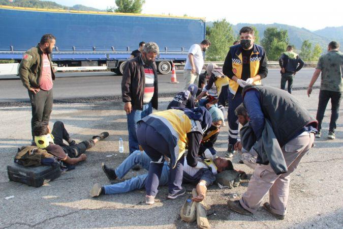 Düzce TEM otoyolunda feci kaza: 8 yaralı