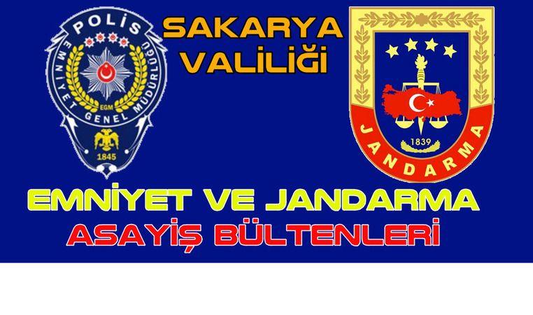 Emniyet  ve Jandarma Asayiş Bülteni 16 Eylül 2021