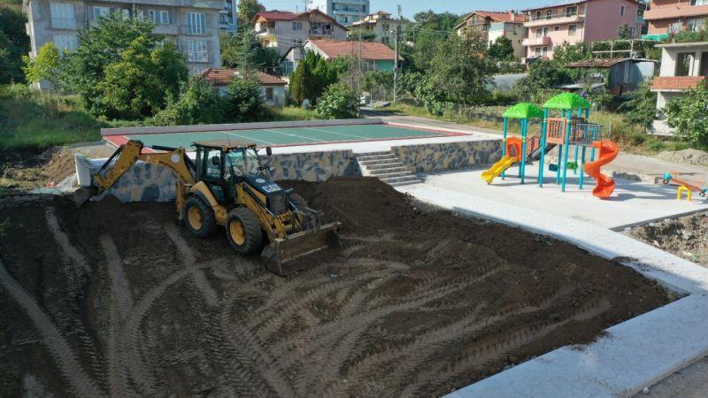 Battal Gazi Sokak parkı şekilleniyor