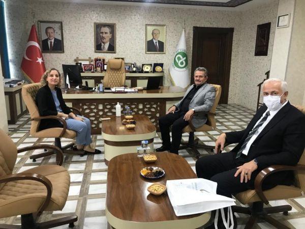 Rektör Çakar'dan Başkan Koloğlu'na ziyaret