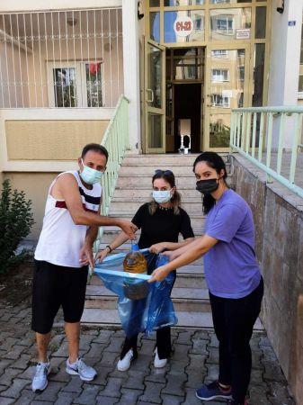 Evlerden toplanan atıklar geri dönüşüme kazandırılıyor