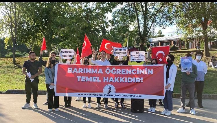 Atatürkçü Düşünce Topluluğu yurt sorunu basın açıklaması