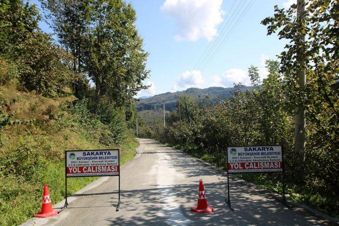 Beton yol çalışmaları Kocaali'de devam ediyor