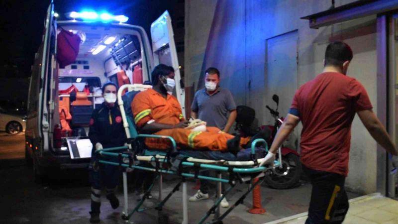 Yüzüne kimyasal madde sıçrayan gemi personeli yaralandı