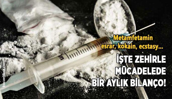 Metamfetamin, esrar, kokain, ecstasy... İşte zehirle mücadelede bir aylık bilanço!