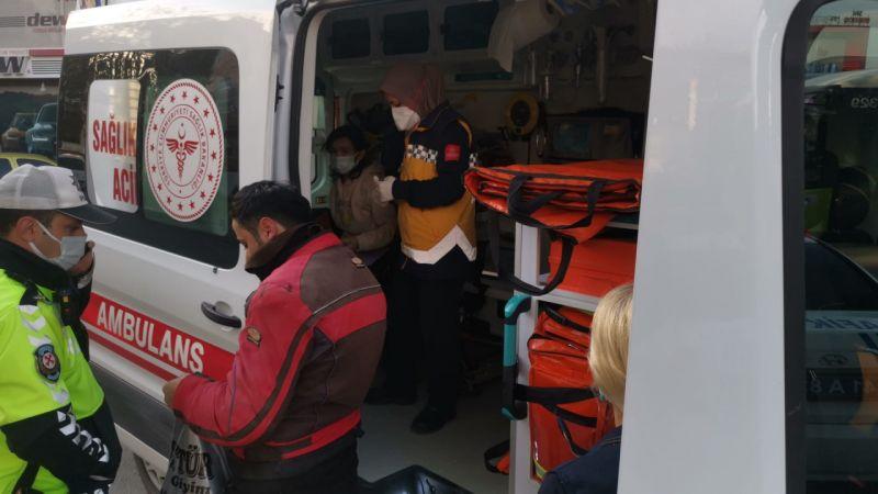 Kocaeli'de otomobille motosikletin çarpışması sonucu 1 kişi yaralandı