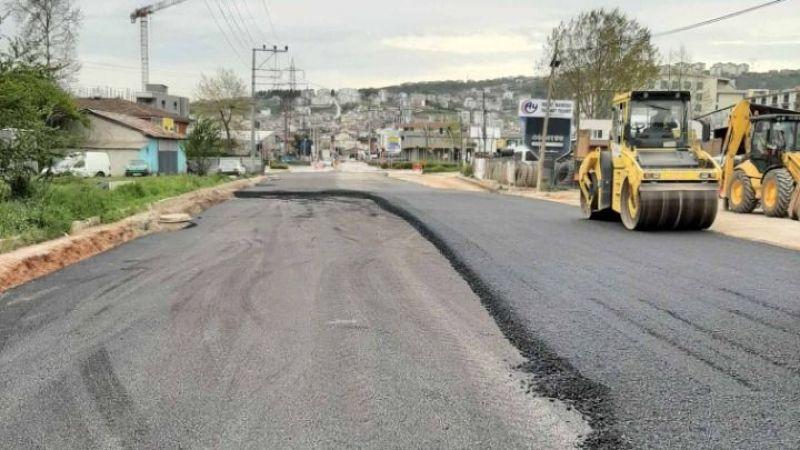 İzmit Solaklar yolu bir günde asfaltlandı