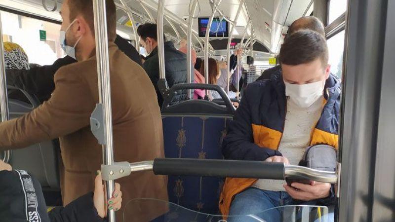 Belediye otobüsünde korkutan görüntü!