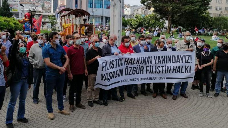 Kocaeli'de Filistin halkı ile dayanışma eylemi!