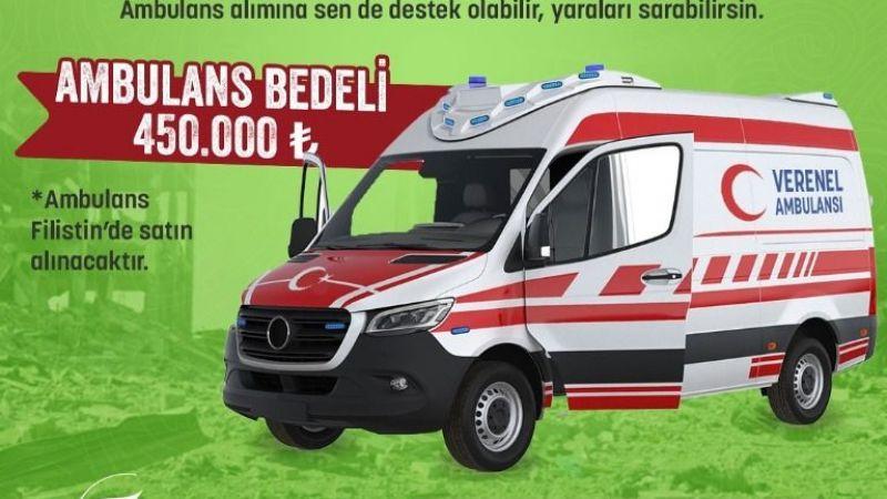 Verenel Derneği'nden Filistinli mazlumlara ambulans kampanyası