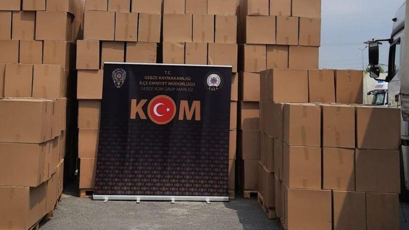 6 milyon dal kaçak makaron ele geçirildi!