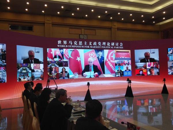 Perinçek Dünya Marksist Siyasi Partiler Sempozumu'nda konuşma yaptı