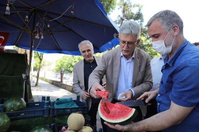 Ellibeş'in esnaf ziyaretlerinde sıcak ve samimi görüntüler