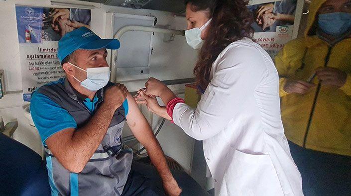 Yeterki siz aşı olun… Mobil aşı çalışmaları başladı!