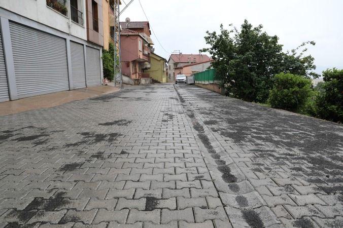 İzmit Belediyesi, Erenler'de parke yol yapımını tamamladı