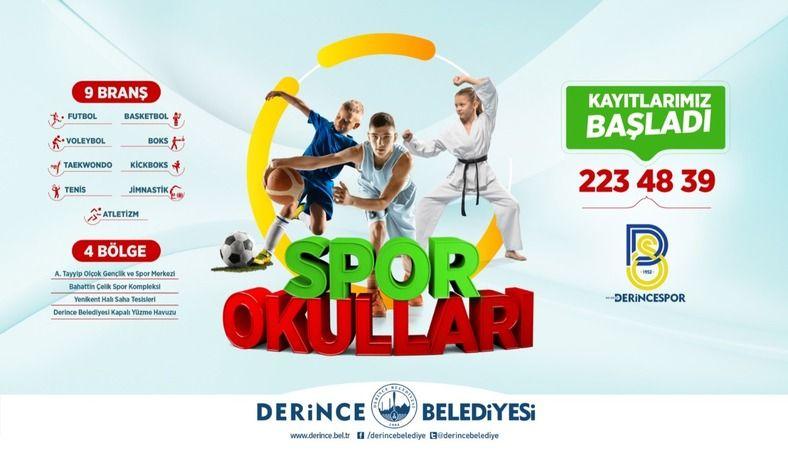 Derince'de Spor Okulları için kayıt zamanı