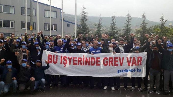 Kocaeli'de işçileri greve çıktı!
