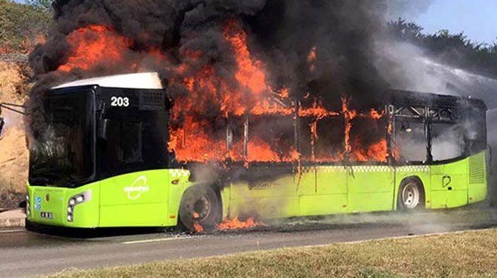 Bu otobüsler neden yandı?