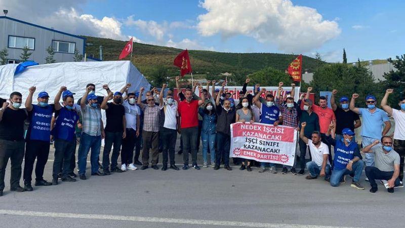 Emek Partisi grevdeki Nedex Kimya işçilerini ziyaret etti