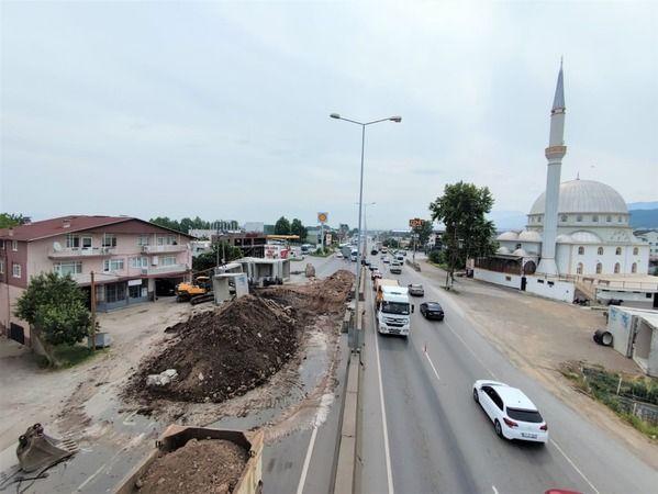 Batakdere yağmur suyu ıslahı projesi D-130 karayolu geçişinin yapımına başlandı