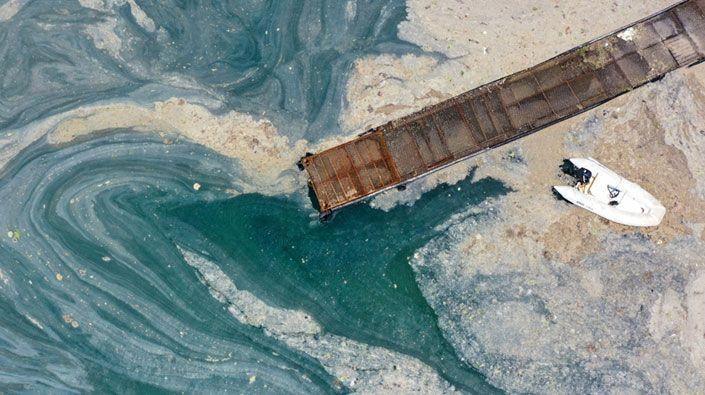 Kocaeli'de temizlenen müsilaj miktarı 438 metreküpe ulaştı!